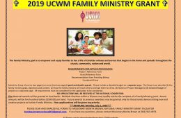 2019 Family Ministry Grant