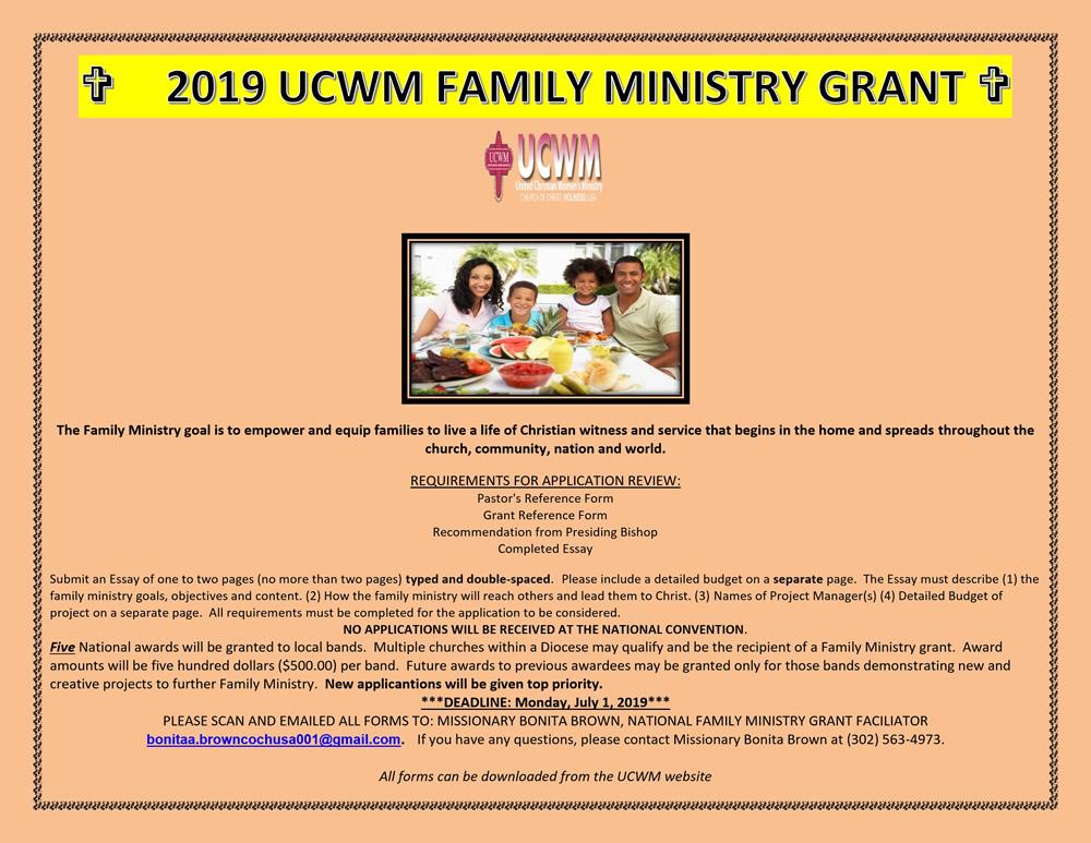 Church Grants 2019