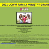 2021 Family Ministry Grant